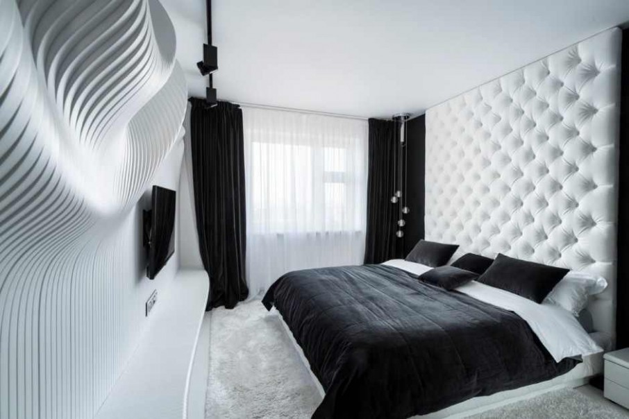amazing black and white bedroom accent for incredible
