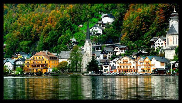 Charming Austrian Village Of Hallstatt In Modern Era