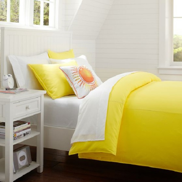 Nice Yellow Duvet Cover With Cool Design : HouseBeauty