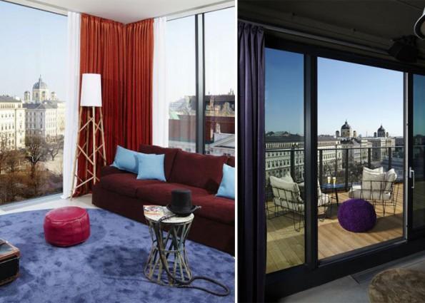 Joyful hotel interior concept representing vivid life in for Design hotel vienna