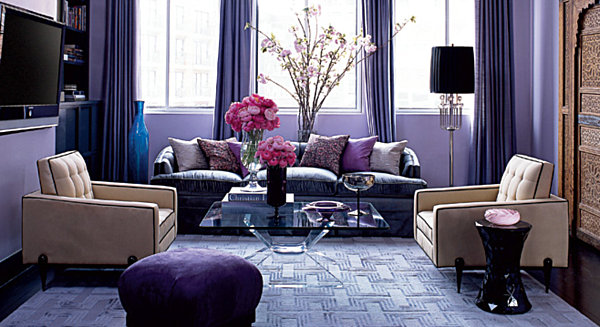 Shining room painting ideas with jewel color housebeauty for Cream and purple bedroom ideas