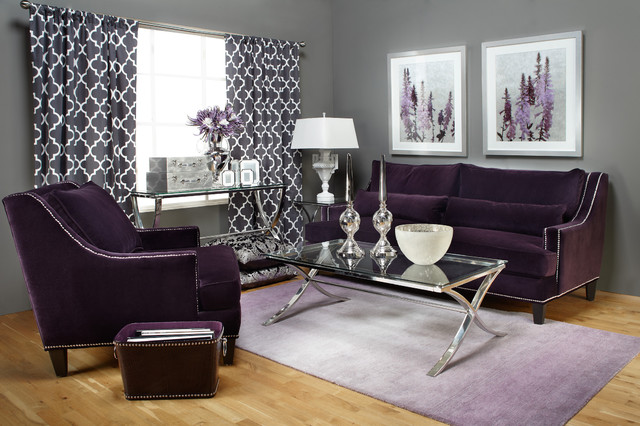 November 1, 2017 ≈ Furniture ≈ No Comments ≈ Tags :Room Decoration, Grey  Egg Chair, Stylish Table Sofa, Violet Pillowcases, Evan Chair