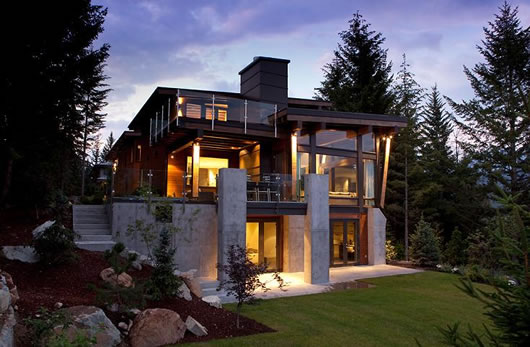 Amazing modern rustic house with contemporary style for Rustic contemporary home plans
