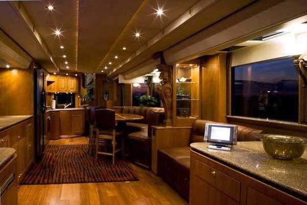 Dazzling luxury mobile home interior with exclusive design for Mobel luxus designer