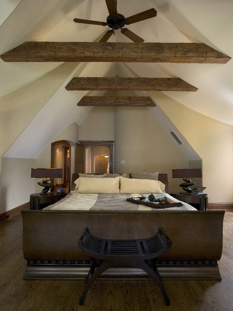 Bright Attic Bedroom Ideas With Glowing Interior Slanted