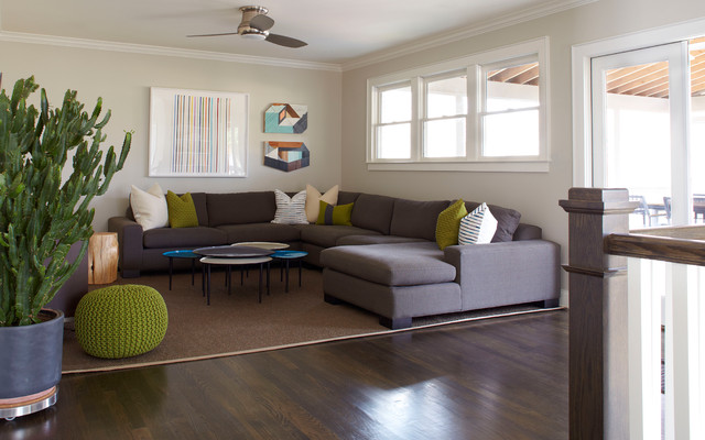 Fashionable Grey Sofas Which Underlines The All White