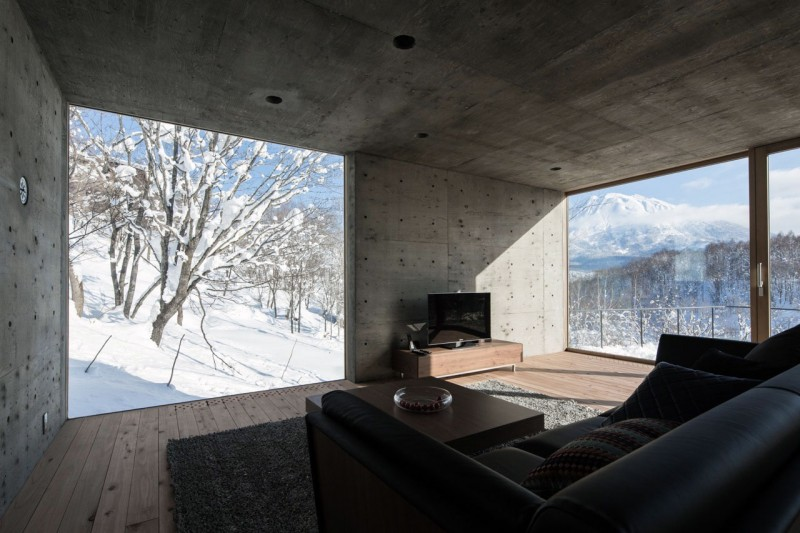 Splendid Resort Design With Snowy Backdrop Housebeauty