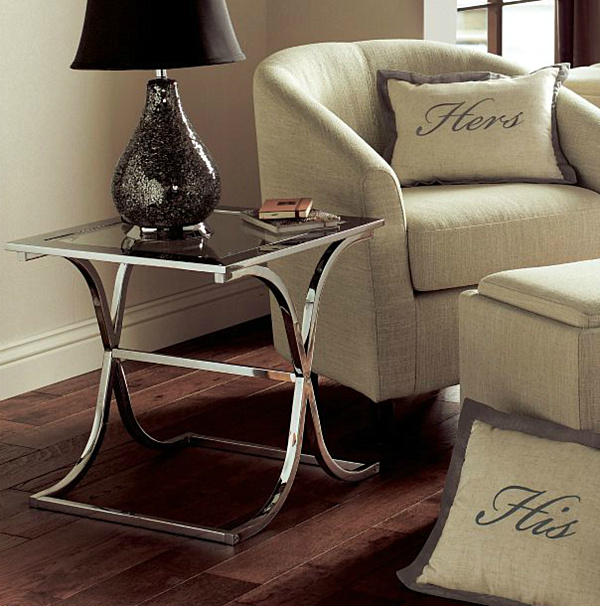 Modern Chrome Accent Inside Your House Chairs And Tables