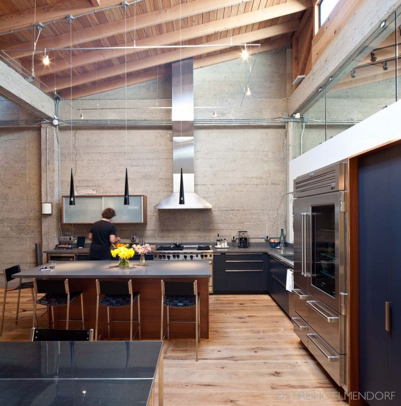 Modern Home Plans With Lofts: Glossy Steel For Interior Design Invading The Modern Loft