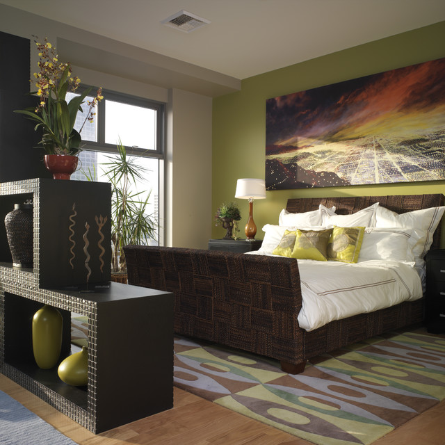 Eclectic Teen Room Interior: Cozy Green Bedroom Ideas For Natural Shades : HouseBeauty