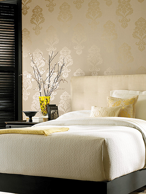 Fashionable patterned wallpaper decoration for stylish interior housebeauty Modern wallpaper for bedroom