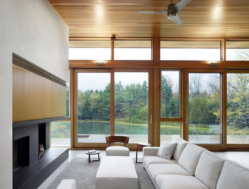 Beautiful lake home with eco friendly concept housebeauty Lake house windows