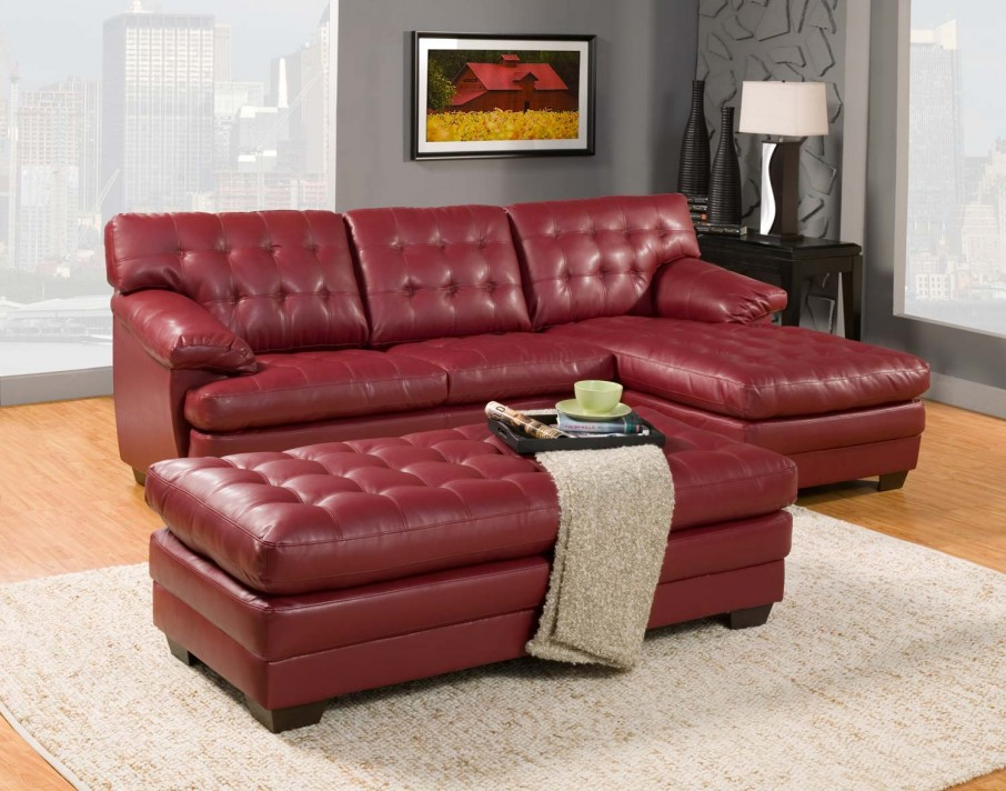 Adorable Red Leather Sofa Collection Housebeauty