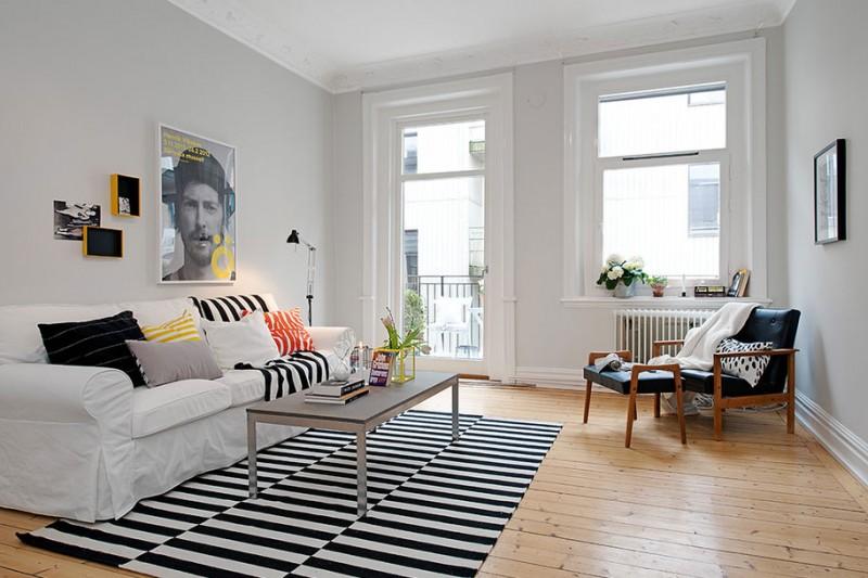 Inspiring Scandinavian Apartment Through Its Interior