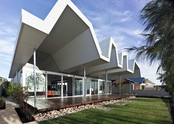attractive unique roofing design applied in an australian house