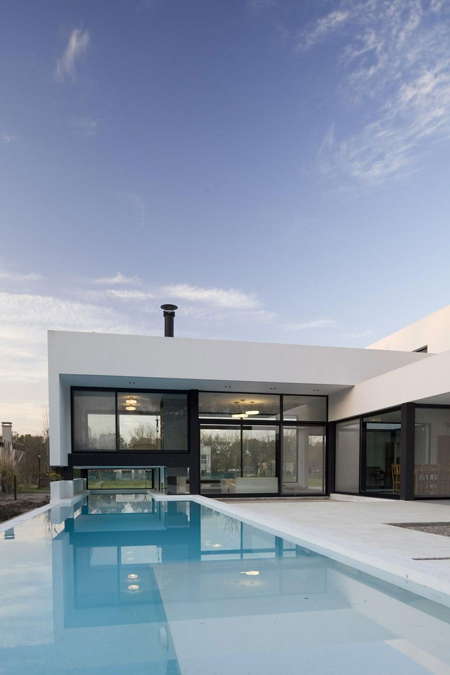 This House With Bluestone Walls Overlooks The Landscape: Fresh White Interior Providing Totally Clean And Airy
