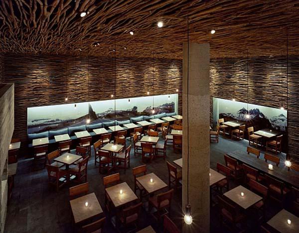 amazing wood restaurant decoration with minimalist
