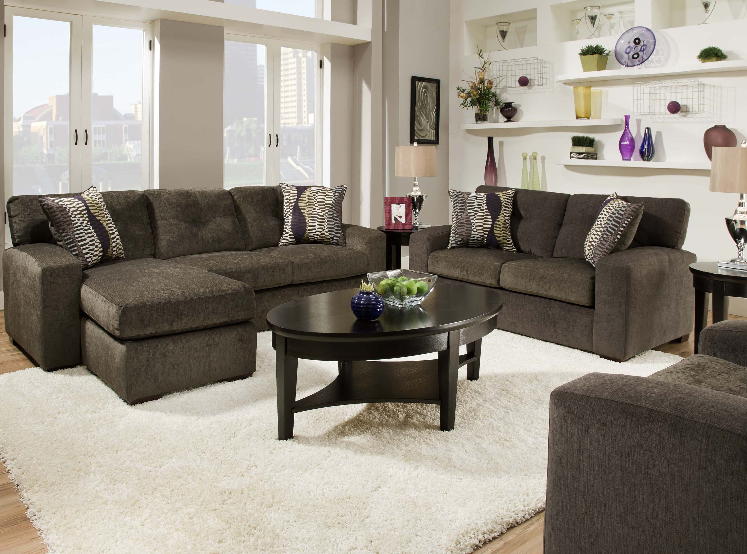 Inspiring contemporary sofas with various styles housebeauty for Gray living room black furniture