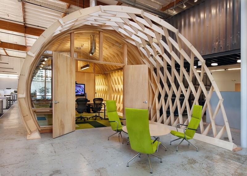 Fabulous Office Interior Design With Indoor Garden