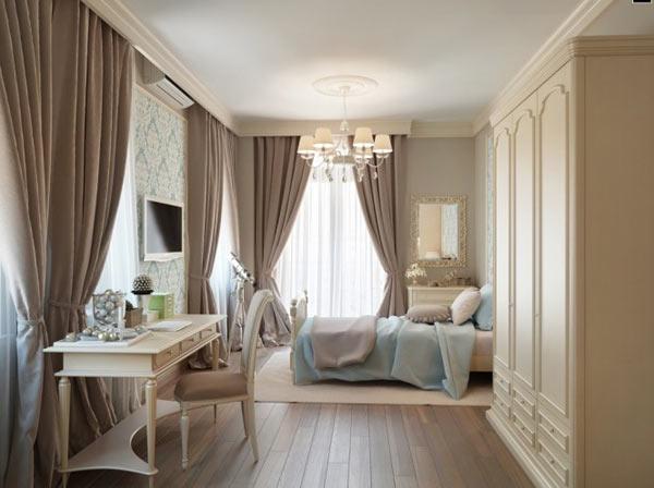 Classy classic interior design in neutral color decoration for Classy bedroom interior designs