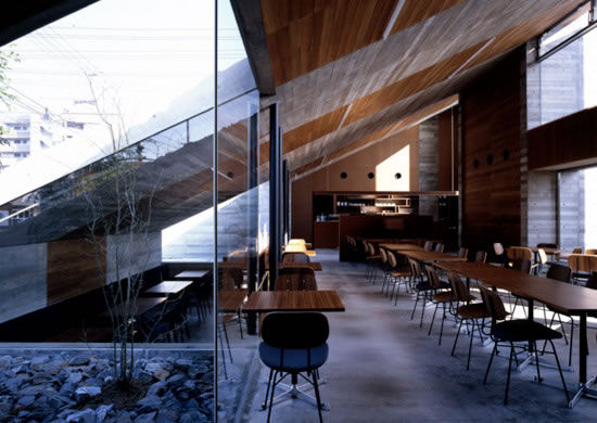 Wonderful Cafe Design In Diagonal Architecture Housebeauty