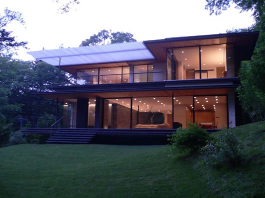beautiful modern japanese house breathing an urban. Black Bedroom Furniture Sets. Home Design Ideas