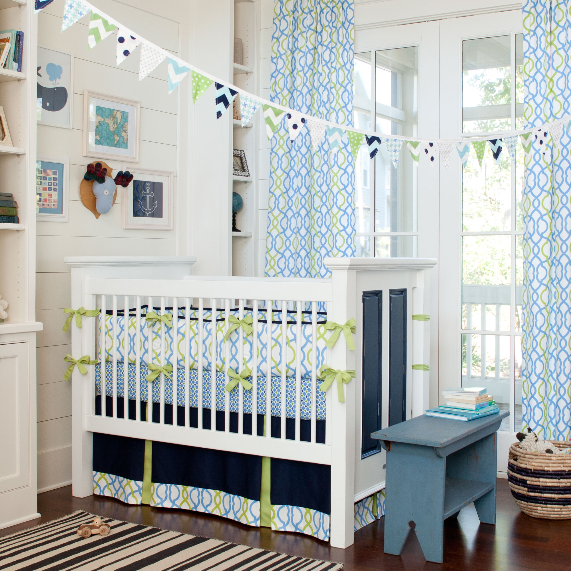 Perfect The Minimalist Design Of This Frame Has Exposed The Dotty And Striped  Pattern Of The Baby Crib Bedding Sets Which Can Improve The Modern Look Of  This Baby ...