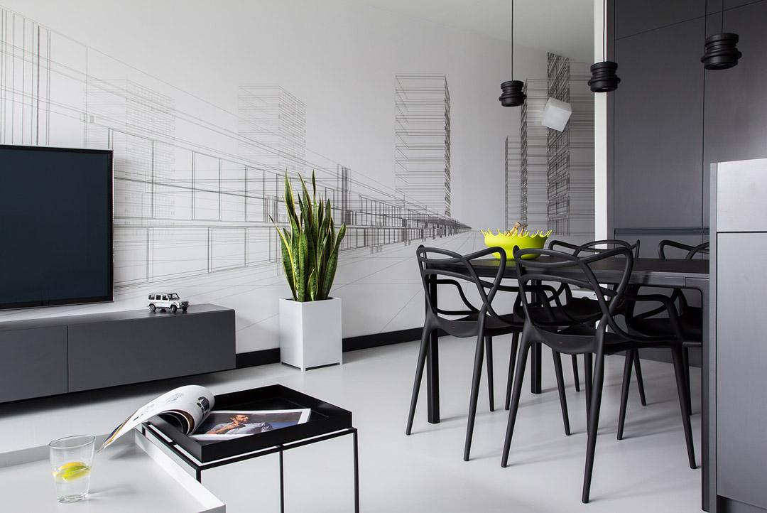 Дизайн черно белый