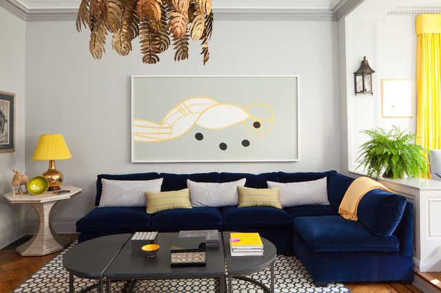 Nice Beautiful Blue Sectional Sofa To Give Vary Interior Design