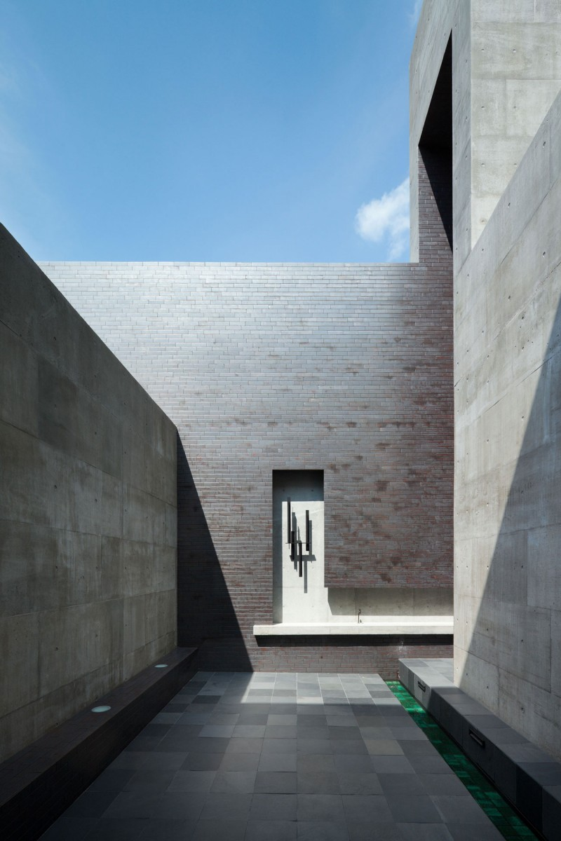 Angled Modern Concrete Construction Of Shiga Prefecture