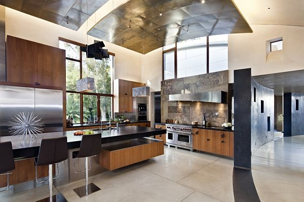 Furniture Bright High Vaulted Ceiling Kitchen Room With: Artistic High Ceiling Design In Bright Room