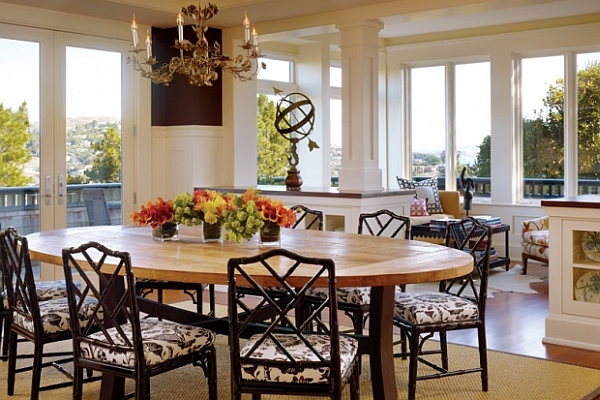 Beautiful Remodels And Decoration Nice Dining Rooms: Fundamental Dining Room Concept: Placing Table In The