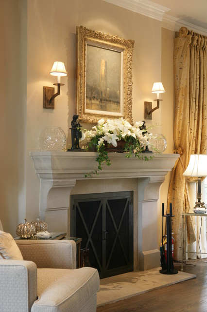 Rocky Fireplace Mantel Kits That Displays Classic And