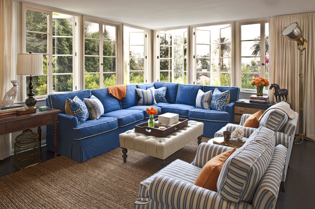 Beautiful Blue Sectional Sofa to Give Vary Interior Design ...