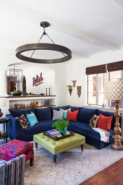 Beautiful Blue Sectional Sofa To Give Vary Interior Design