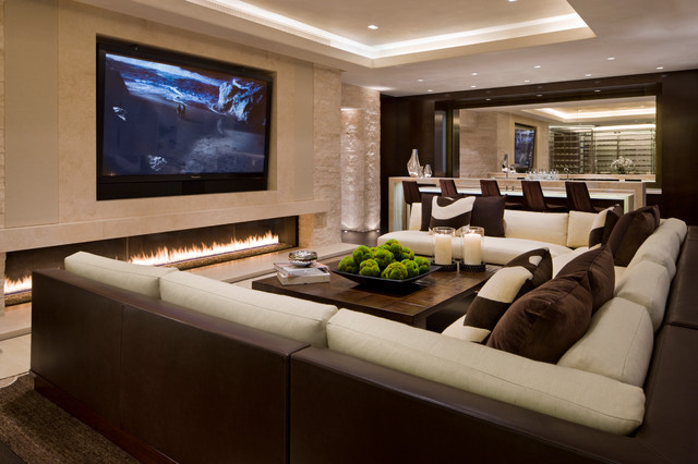 Then The Formal Room Decor With White Leather Extra Large Sectional Sofas  With Chaise Is Stark And Minimalist.