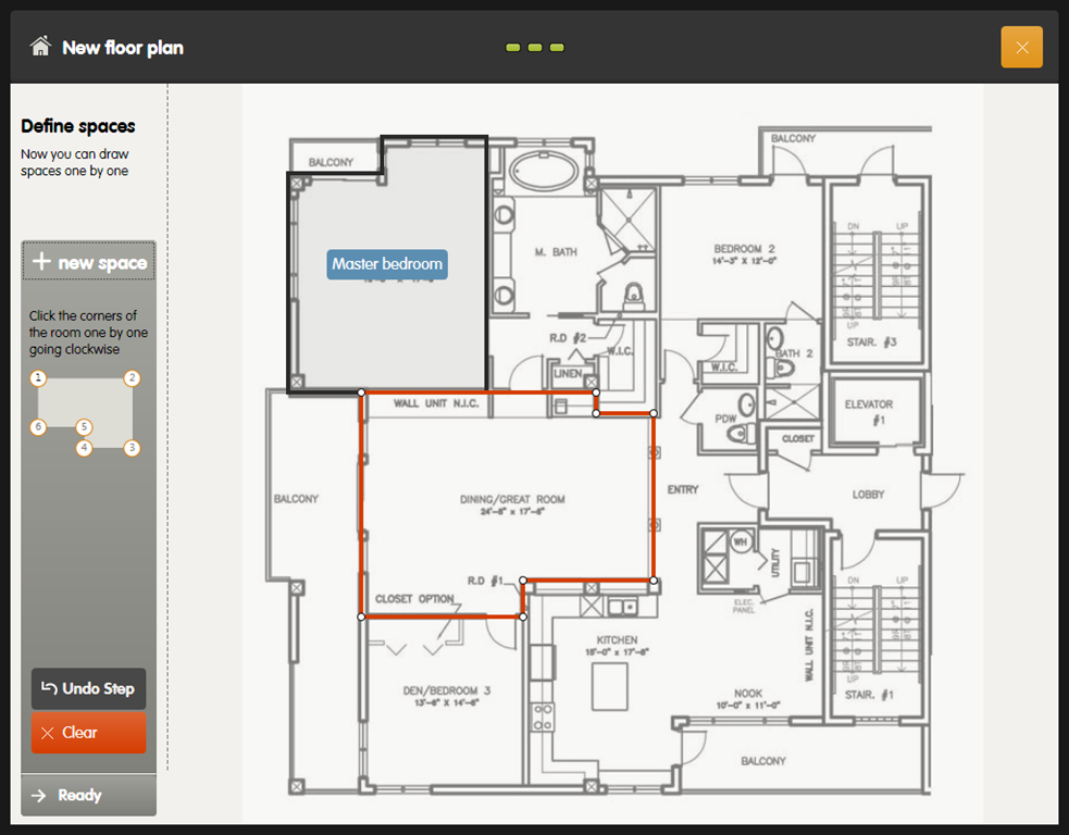 Digital smart draw floor plan with smartdraw software for Home plan drawing software free