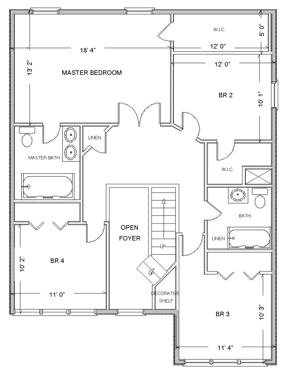 Digital smart draw floor plan with smartdraw software for Blank floor plan