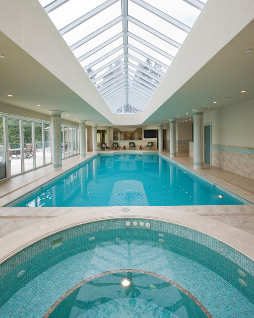 Indoor Swimming Pool Designs: Delightful Indoor Pool House Designs Saving Skins From Sun
