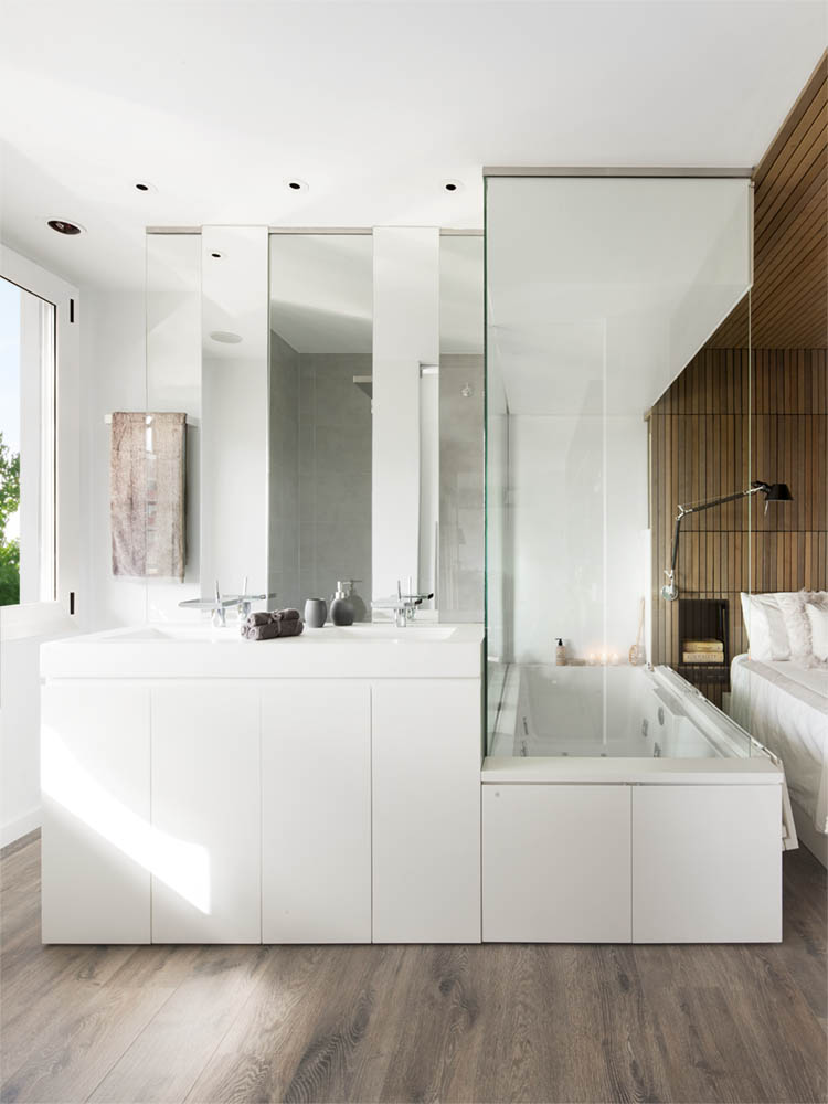 amazing modern apartment suitable for book lovers housebeauty. Black Bedroom Furniture Sets. Home Design Ideas