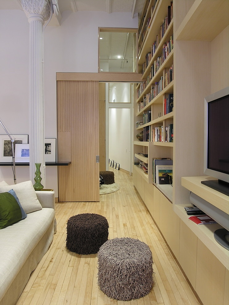 Outstanding Neutral Loft Interior Design with Wooden Decoration ...