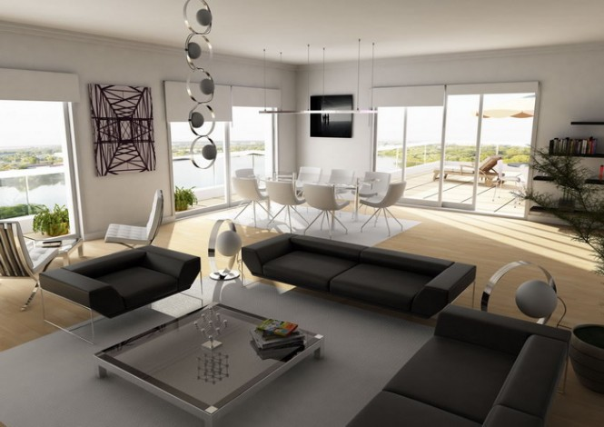 Luxurious Interior Furniture For Stylish Bachelor Pad