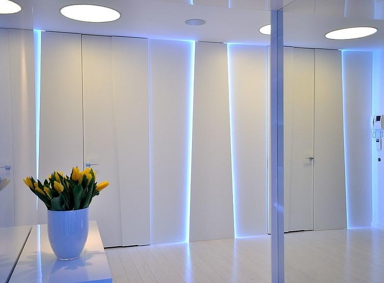 Lively Apartment Interior Design With Bright Hidden