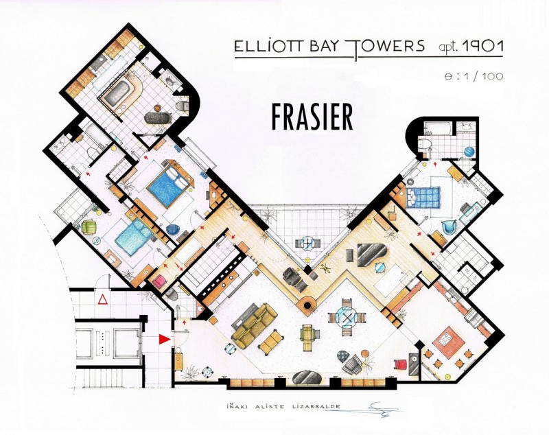 Imaginative Floor Plans Of Television Serial Movie House