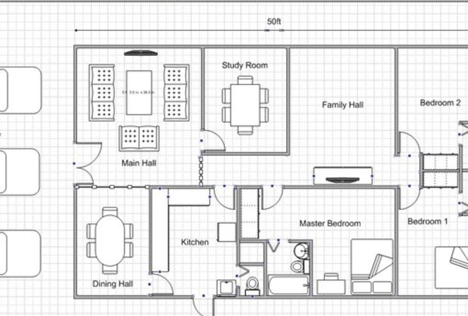 Easy drawing plans online with free program for home plan for Draw office floor plan