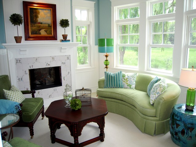 Decorate fresh interior in easy way housebeauty for Blue and green living room decorating ideas