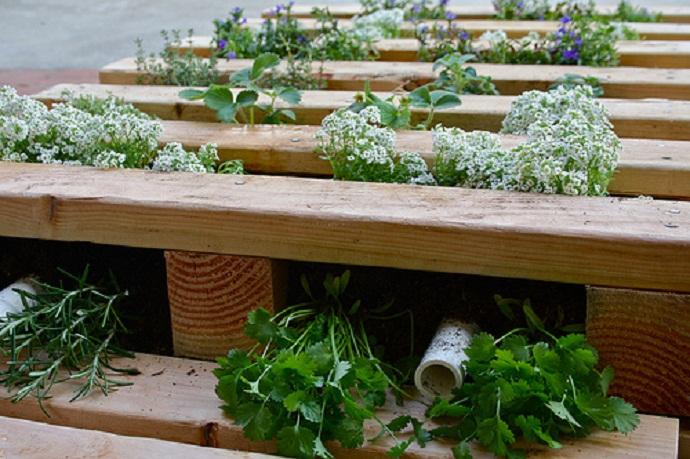 Improvisation Garden Pallet Function Housebeauty