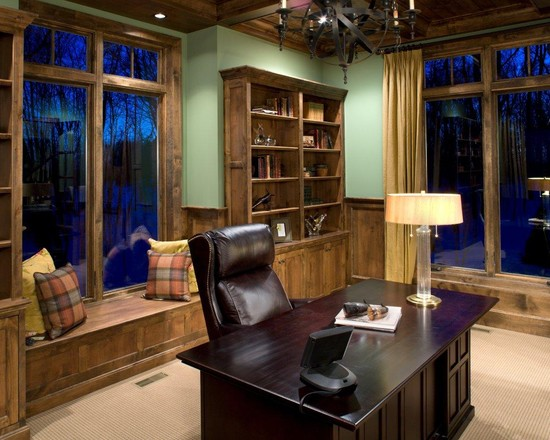 Masculine office decoration ideas for men who live in for Home office design ideas for men