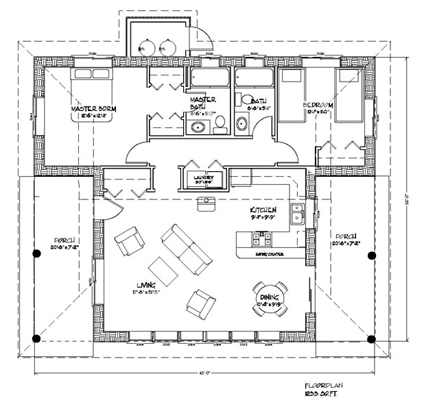 Contemporary sustainable home plans inviting nature in the for Green living house plans