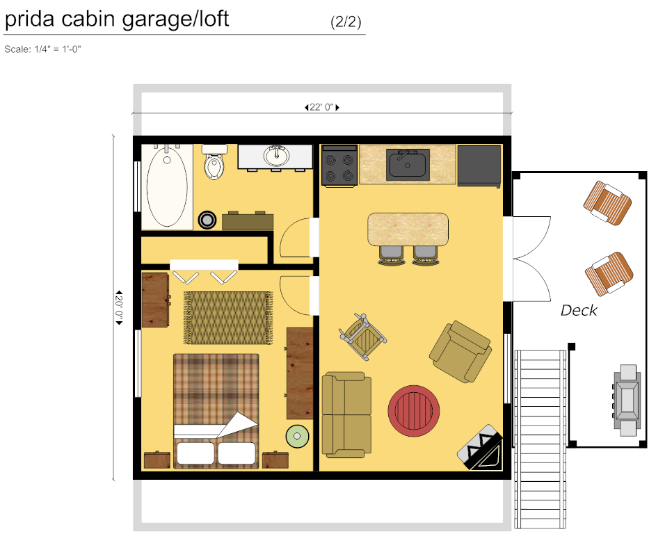 Digital smart draw floor plan with smartdraw software for Garage floor plan software